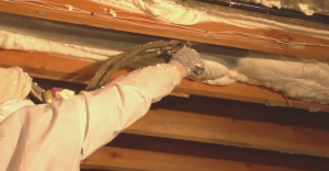 spray foam insulation sealing